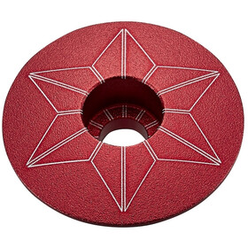 Supacaz Star Capz Ahead Cap anodised red